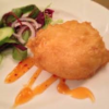 Battered Goats Cheese & Black Pudding